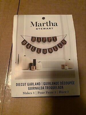 Martha Stewart Happy Halloween Diecut Garland Makes 1