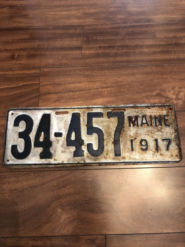 1917 Maine License Plate