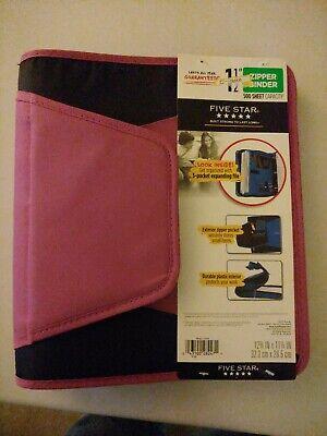 Five Star Zipper Binder 1.5 500 Sheet Zipper Pocket Durable Interior  B11