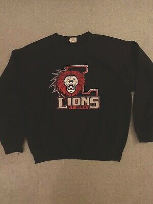 Vintage Navy College Football Sweatshirt Jumper Laselle Lions Size Large