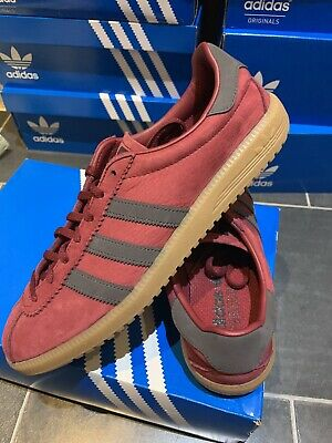 Adidas OG Bermuda UK 9.5 Eu 44 Burgundy Red Rouge CW Deadstock New Island Series