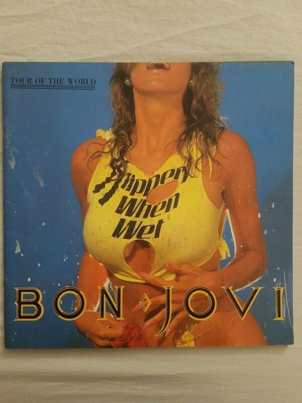Bon Jovi Vintage Concert Program Slippery When Wet  Tour of the World 1987