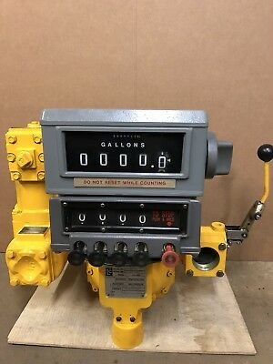Liquid Controls M-7 Meter Veeder Root Warranty Oil Gas Bio Diesel Lc Printer Ava