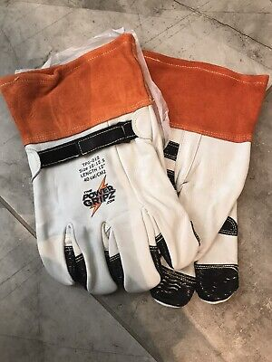 Power Gripz Insulated Heavy Duty Cowhide Leather Work Gloves Size 8 Retail 42