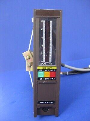 Riken Keiki Gas Indicator Ox-571 Oxygen Analyzer 0-25 O2 Used
