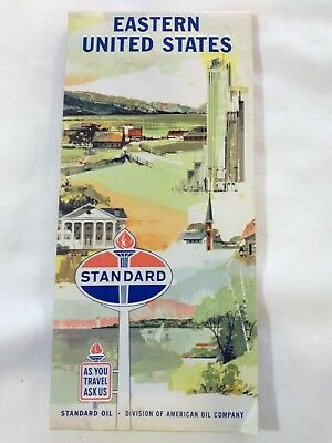 Vintage Standard Oil Eastern US Gas Station Map Mid Century Advertising