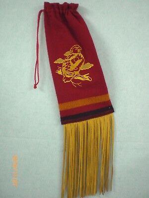Dance Bag, 3 Band Broadcloth, Embroidered Eagle