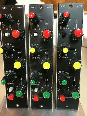 Ward Beck WBS 462 3 band parametric equalizers- LOT of 3 units.