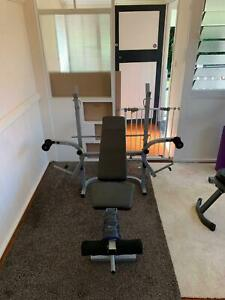 Workout Gym Bench With Multiple Accessories