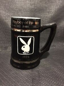 REDUCED - PLAYBOY of THE YEAR  1976 Black White Mug/Tankard