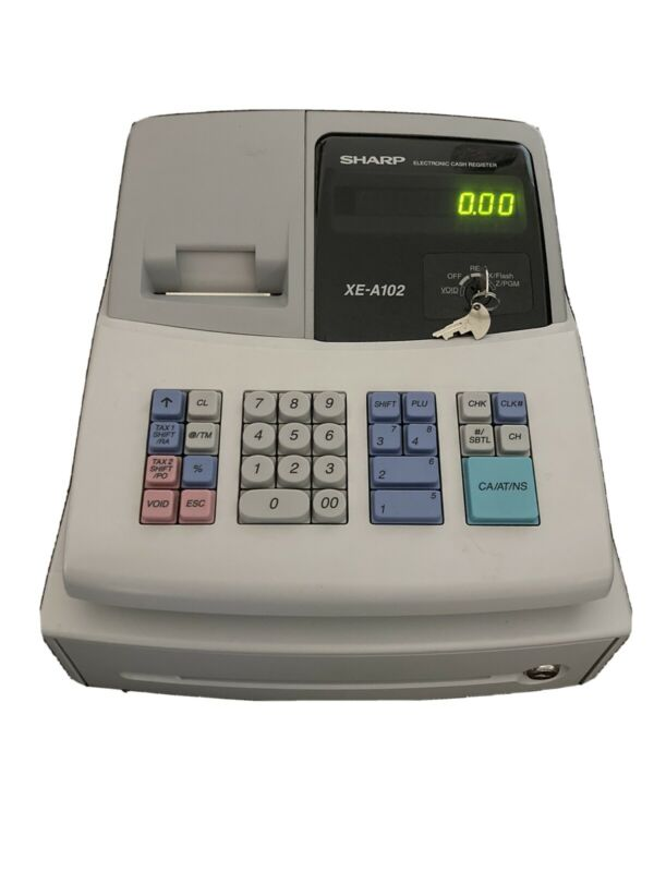 Sharp XEA102 Electronic Cash Register - XE-A102 - NO PAPER - Tested