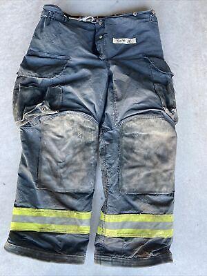 Firefighter Janesville Lion Apparel Turnout Bunker Pants 38x30 Black Costume 08