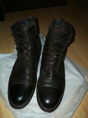 Jack and Jones Stiefel Braun Leder Boots Größe 43 Herrenschuh