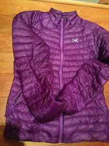 Arcteryx down jacket women's large