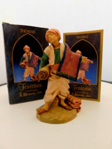 """Fontanini Italy """"Thomas""""  5 inches Figurine with Box & Story Card"""