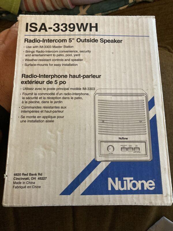 "New Nutone ISA-339WH Outdoor 5"" Intercom Speaker for im3303 ima3303 IS339"