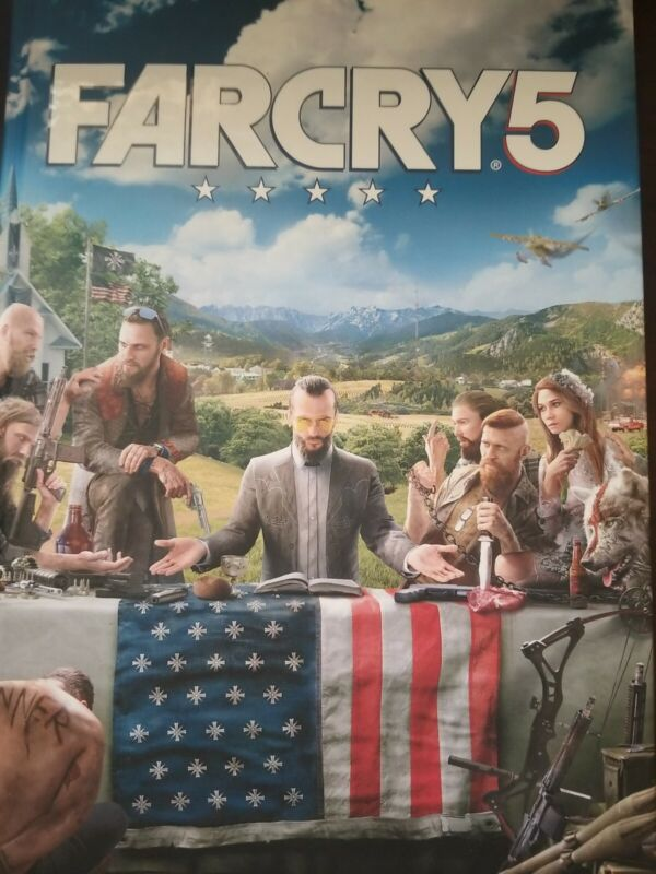 FAR CRY 5 COLLECTORS EDITION GUIDE WITH MAP.