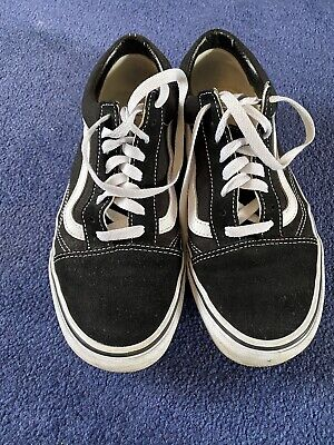 Black And White Vans Size 6.5