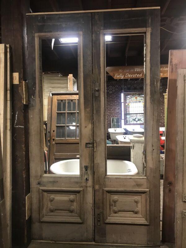 Pair Walnut Entry Doors Antique Entry Doors Victorian Doors Architectural Doors