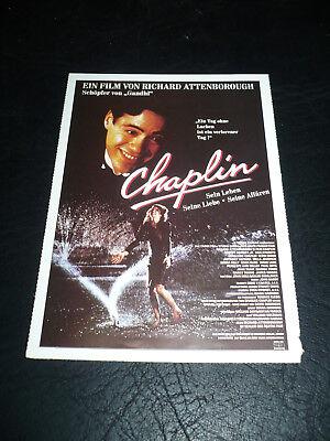 Chaplin  Film Card  Robert Downey Jr   Geraldine Chaplin