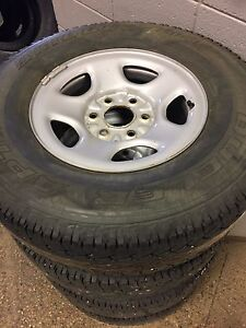 Tires 245/75r16 BRIDGESTONE atp 10 ply and rims