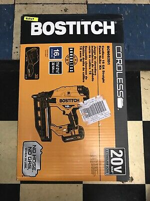 NEW - Bostitch 20v MAX 16GA Straight Finish Nailer Kit - BCN662D1