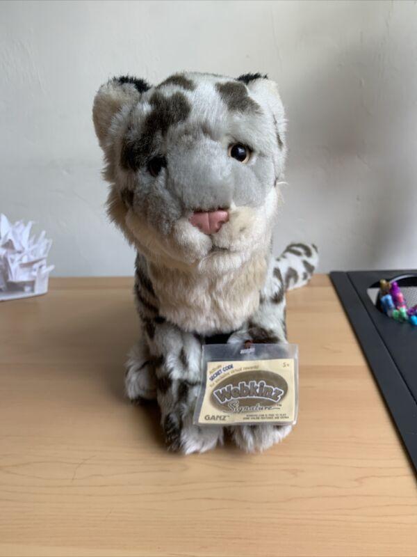 Brand new Signature Snow Leopard Webkinz Plush With Unused Code