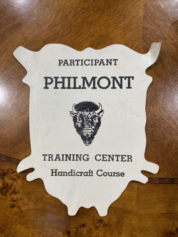 Philmont Training Center Handicraft Course Participant Leather Back Patch BSA