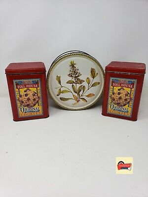 Vintage Nestle Toll House metal cookie tin Home made goodness,Morsels semi sweet