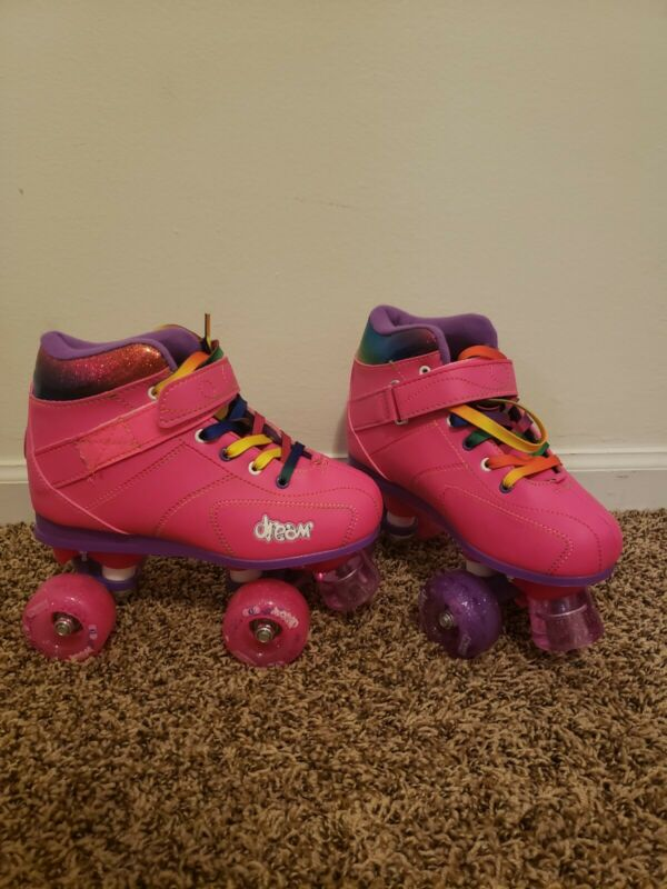 Little Girls Size 4 Dream Crazy Skates With Light Up Wheels