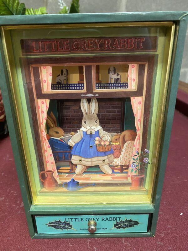 Margaret Tempest Little Grey Rabbit  Animated Music Box Chum Chum Cherry