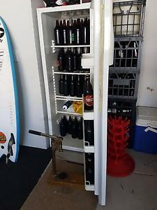 Home brew kit, bottles and fridge City Beach Cambridge Area Preview