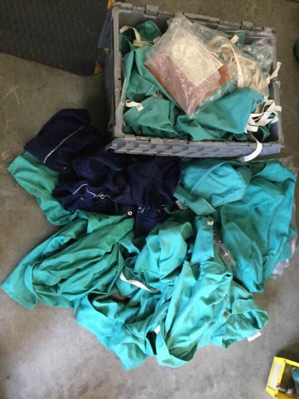 Lot Of Surplus Welding Cape Sleeves, FR, Jackets, Bibs