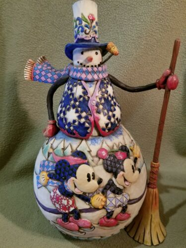 Disney Traditions Jim Shore Old Fashioned Holiday Mickey Minnie Snowman 4008062
