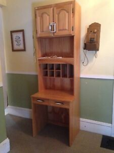 Hand Made Pine Secretary Desk / Cabinet