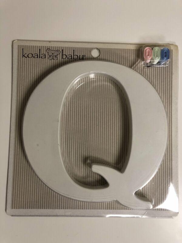 "Koala Baby Wall Letter ""Q"" Personalize Nursery Bedroom Playroom Keyhole White"