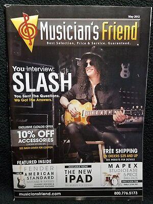 Guns N Roses Slash Musicians Friend Guitar Catalog Magazine May 2012