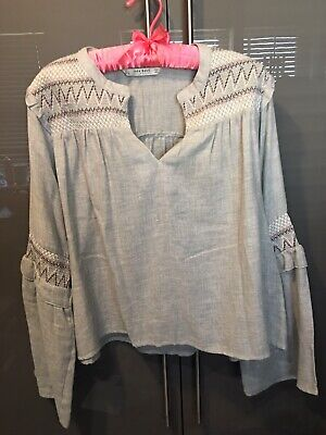 Zara Ladies XL Long Sleeve Top (new Stock)