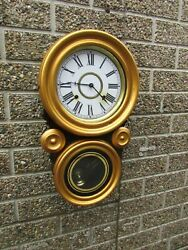 American Ionic 8 Day Wall Clock C1870