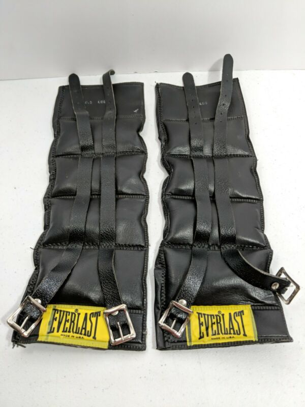 Leather Everlast 2.5 lb Each Ankle Weights Straps Buckle Power Walking Cardio