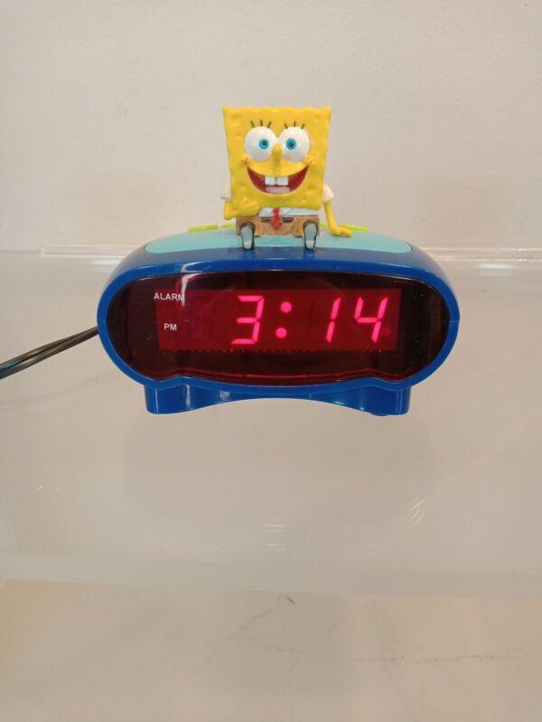 SpongeBob SquarePants LED DIGITAL Alarm Clock - Tested and Works Perfectly! 2004