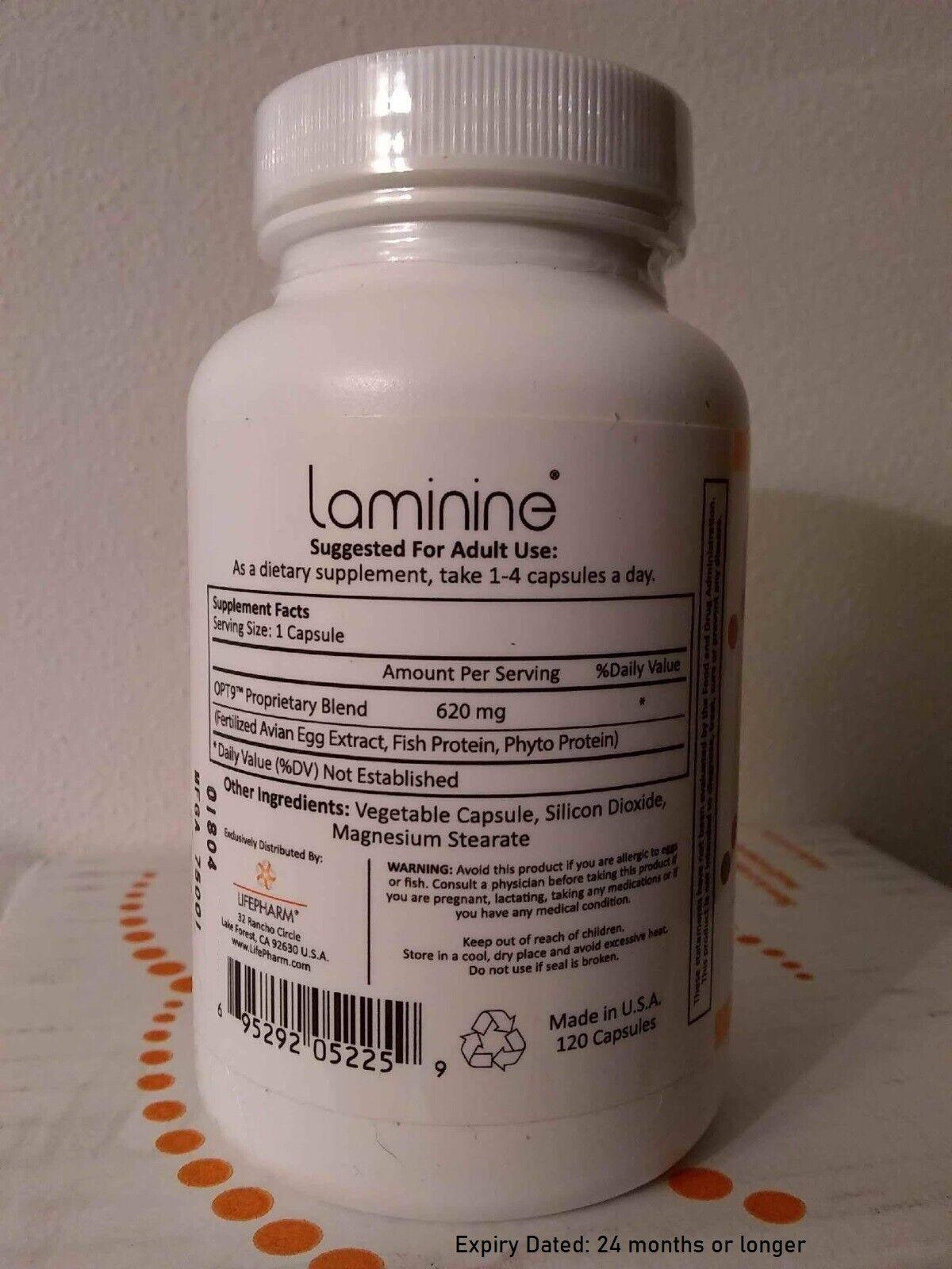 Laminine supplement 120 count MEGA-bottle, LifePharm Global, as low as $116.95 1
