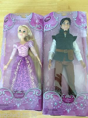 "NEW Disney Store Rapunzel Classic Doll & Flynn Classic Doll 12"" Tangled"