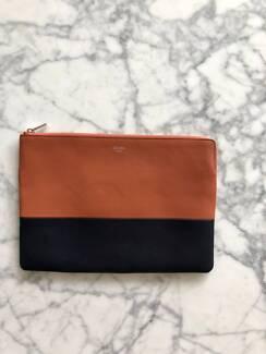 Authentic CÉLINE Leather Clutch Bag