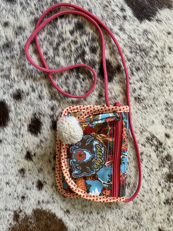 Oilily Purse Bag Girls RARE Boho Red Deer Polka-Dot Vintage Crossbody Wallet