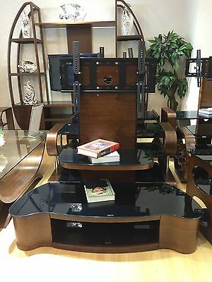 """Universal TV Stand Wooden TV Unit TV Cabinet with Bracket for 32"""" 65"""" TV Curved"""