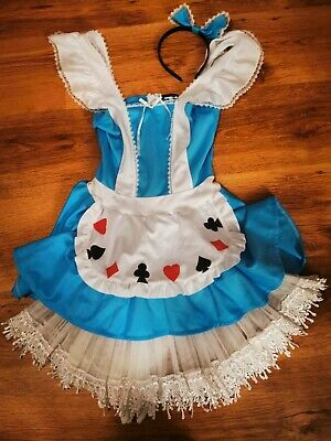 Leg Avenue alice in wonderland Halloween Fancy Dress Costume & Petticoat  S