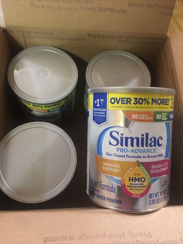 4 Can Similac Pro Advance Baby Formula- 30.8 oz/each Exp. 08/2022