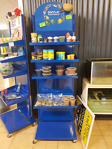 SHOP CLEAR OUT.. blue stand on wheels Removeable shelves Kyogle Kyogle Area Preview