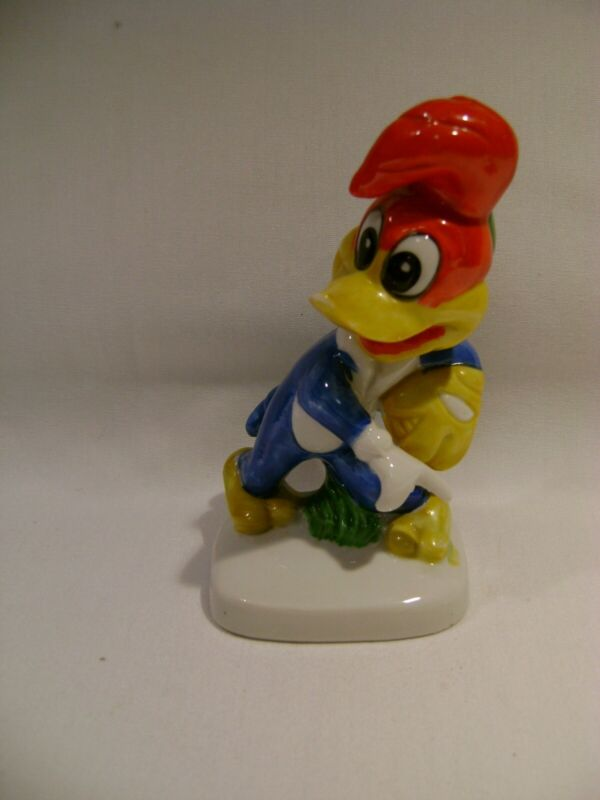 Vintage Woody Woodpecker Walter Lantz Figurine  1980 Baseball  Used